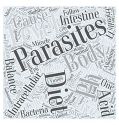 Parasites and the pH miracle diet Word Cloud vector image