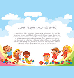 playground template for advertising brochure vector image
