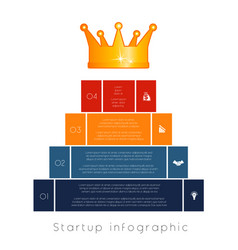 pyramid of 4 steps to success infographic vector image
