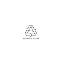 recycling of clothes monochrome icon secondary vector image