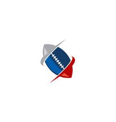 rugby emblem template logo vector image