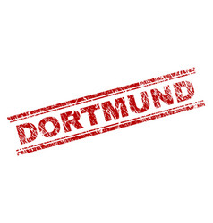 Scratched textured dortmund stamp seal vector