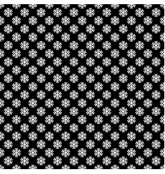 seamless simple geometric snow flake pattern vector image
