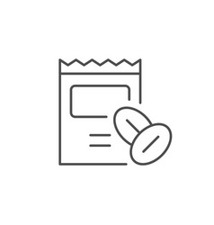Seeds package line outline icon vector