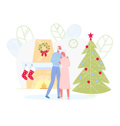 senior couple celebrate new year and christmas vector image