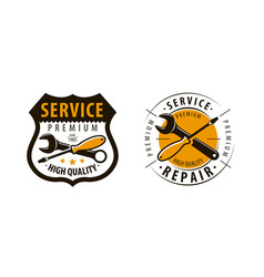 service workshop logo or label repair icon vector image