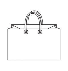 Shopping bag icon doodle line style Colorful vector image