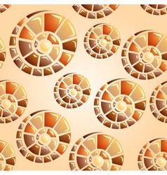 snail shell seamless vector image
