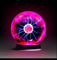 stock realistic plasma globe vector image