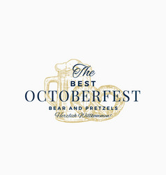 the best octoberfest pretzels and beer abstract vector image