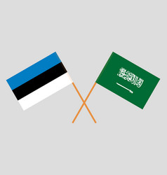 the estonian and ksa flags vector image