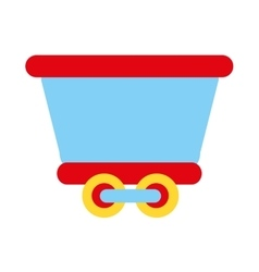 train transport toy isolated icon vector image
