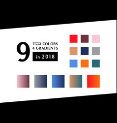 Trend color and gradients in 2018 vector