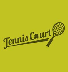 typography tennis court vector image