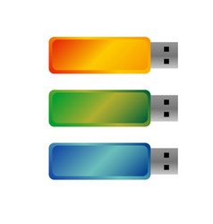 usb flash drives colored portable data storage vector image