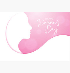 Women day background for greeting card vector