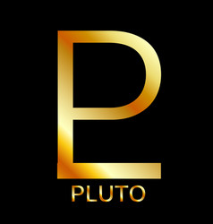 zodiac and astrology symbol of the planet pluto vector image