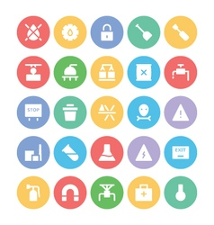 Industrial Colored Icons 1 vector image