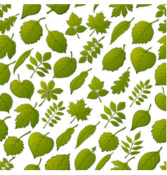 leaves of plants seamless vector image vector image