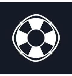 Lifebuoy Isolated on Black Background vector image vector image