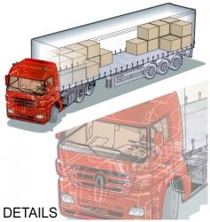 cargo semi truck vector image vector image