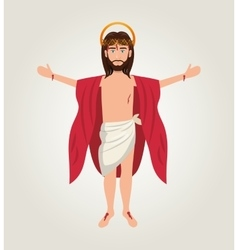 cartoon jesus christ ascension design vector image vector image