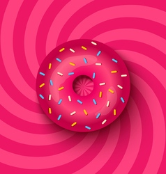 donut pink vector image vector image