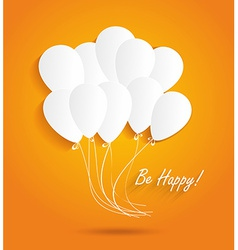 Birthday card with paper ballons vector image vector image