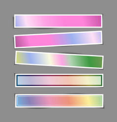 bright banner paper stickers with shadows vector image vector image