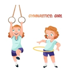 Girl doing gymnastic exercises vector image vector image