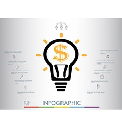 infographics with a light bulb vector image vector image