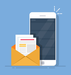 Mail client on the mobile phone the concept of vector