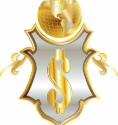 money emblem vector image vector image