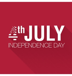 American Flag 4th july american independence day vector image