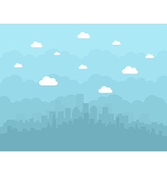 City is flat vector image vector image