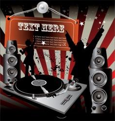 party Dj retro music vector image