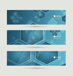 Set of abstract backgrounds with glossy luminous vector