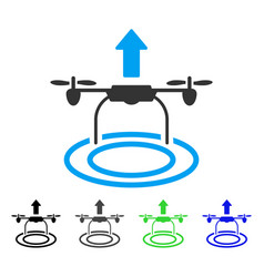 Start drone flat icon vector