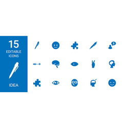 15 idea icons vector