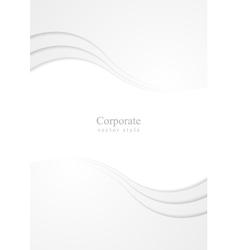 Abstract grey wavy flyer corporate design vector