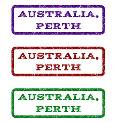 australia perth watermark stamp vector image