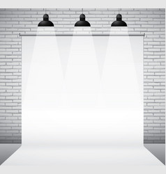 brick wall backdrop vector image
