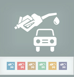 car fuel icon vector image
