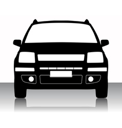 car silhouette vector image