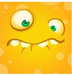 cartoon funny monster for halloween vector image