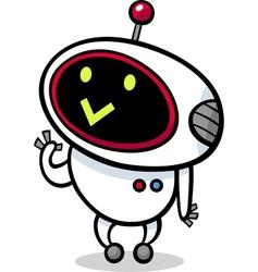 cartoon kawaii robot vector image