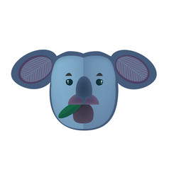 cartoon koala bear head isolated on white vector image