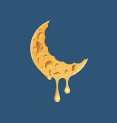 cheese moon logo vector image