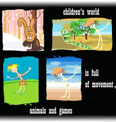 Childrens world vector