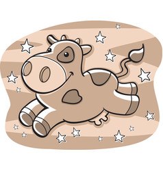 chocolate cow vector image